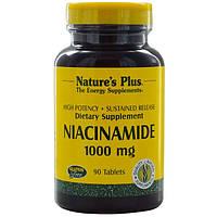 Ниацинамид, Nature's Plus, 1000 мг, 90 капсул