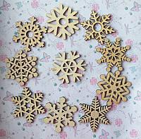 Деревянная заготовка- подвеска Снежинка, фото 1