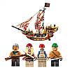 """Детский конструктор """"Пиратский корабль"""" Brick 1311 368 деталей, фото 2"""