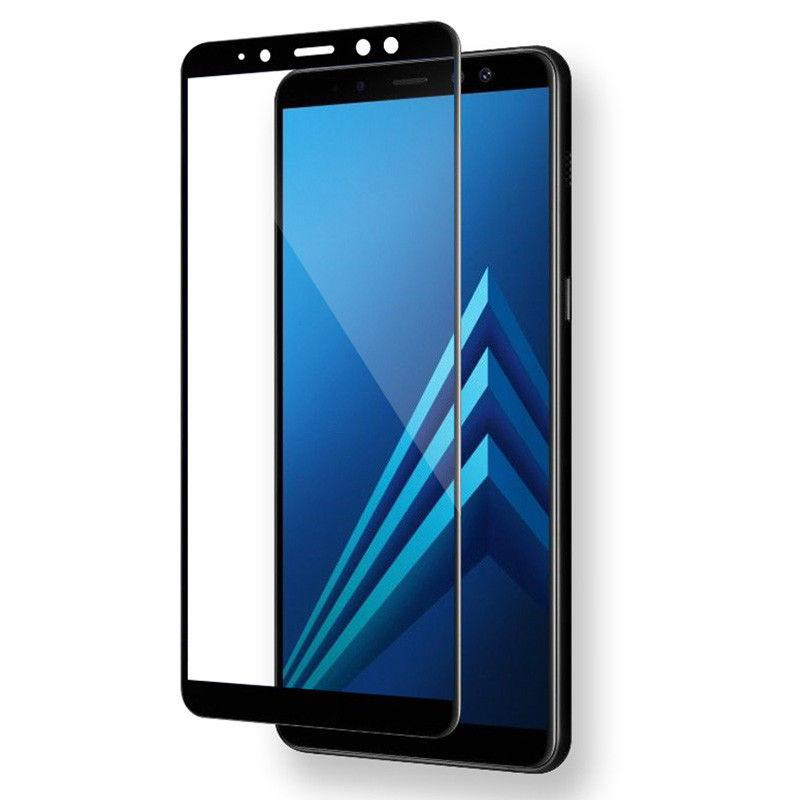 Samsung A750F Galaxy A7 (2018) Colorful Tempered Glass Black Защитное Стекло