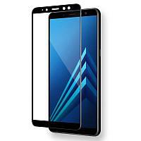 Samsung A750F Galaxy A7 (2018) Colorful Tempered Glass Black Защитное Стекло
