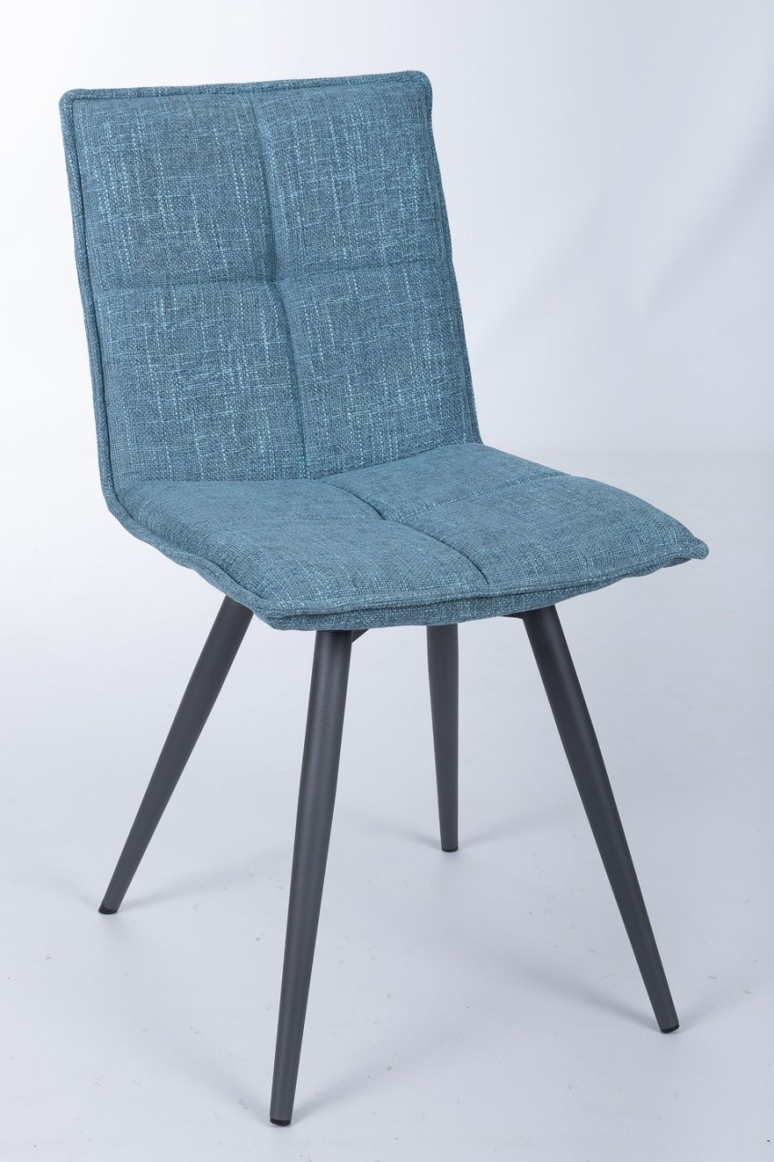 Поворотный стул MADRID (Мадрид) темно-голубой от Niсolas, рогожка