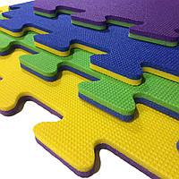 Теплоизоляционный коврик-пазл (мат татами, ласточкин хвост)1 элемент, 1000×1000×20мм, ХС ППЭ 55кг/м³