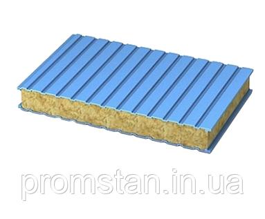 Стеновые сэндвич-панели с наполнителем из минеральной ваты 150 мм