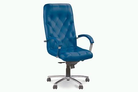 Кресло кожаное для руководителя  «CUBA steel chrome» SP