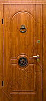 Входные уличные стальные двери 54 Лев стучалка, фото 1