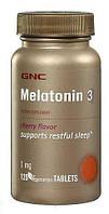 Melatonin 3mg GNC (120 tabs)  витамины для сна Мелатонин, фото 1