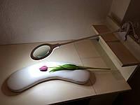 Лампа лупа на прищепке, лампа лупа для маникюра, лампа с линзой, фото 1