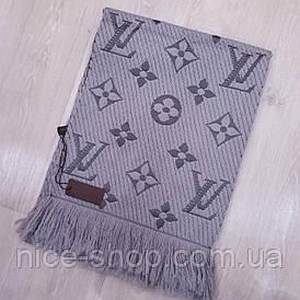 Шарф Louis Vuitton сірий