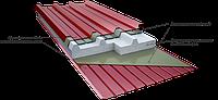 Кровельные сэндвич-панели с наполнителем из пенополистирола 100 мм
