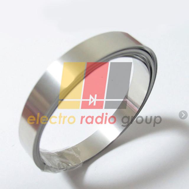 Лента стальная никелированная 0,15 х 8,0мм для сварки аккумуляторов, 1м