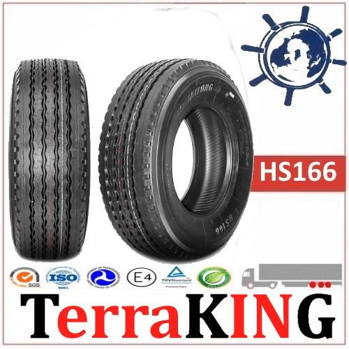 Шины TERRAKING HS166 (Прицеп) 385/65R22.5 160K, грузовые шины на полуприцеп