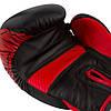 Боксерські рукавиці PowerPlay 3023 A Чорно-Червоні [натуральна шкіра] 14 унцій, фото 4