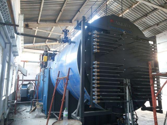 Паровой котел на лузге подсолнечника Akkaya YHYB 12 000-10 (12000 кг/час, 10 бар)