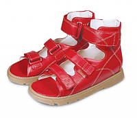 Memo Dino красные - Ортопедические босоножки для детей