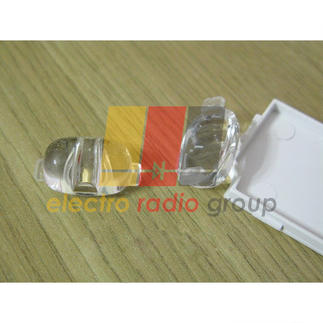 Линза рассеиватель 155х67 градусов пластик РММА, для 1-5Вт светодиода