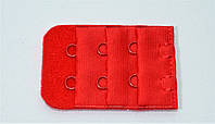 Удлинитель для бюстгальтера на 2 крючка красный