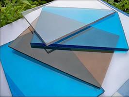 Монолітний полікарбонат 6 мм, розмір листа 2000х6000 мм