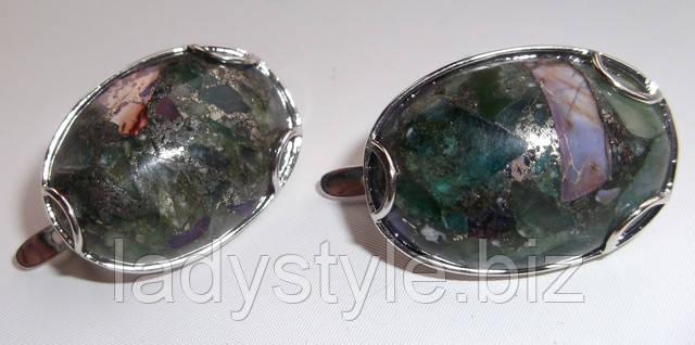 украшение серьги флюорит купить серебряные украшения подарок