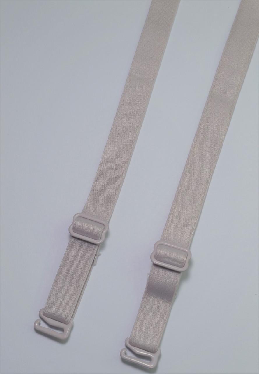 Бретельки Lemila тканевые  ширина 1 см серые