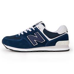 Кроссовки New Balance 574 Blue White Синие мужские реплика