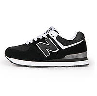 Кроссовки New Balance 574 Black White Черные мужские реплика 8ef6cf975ad14