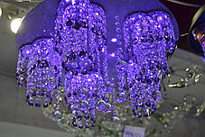 Люстра хрустальная, 5 ламп, серебро, фото 3