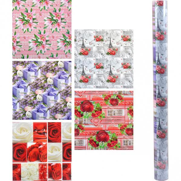 Бумага упаковочная «Цветы» 100×70 см БУн70