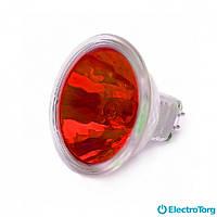Лампа галогеновая JCDR 50 Вт красная Delux
