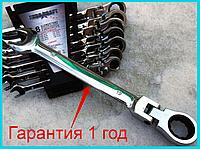 ✳️Набор рожково-накидных ключей с трещеткой на кардане 8 шт Euro Craft / Гарантия 1 год(1.4кг Эврокрафт хром-ванадиевая сталь инструменты 8мм 13мм