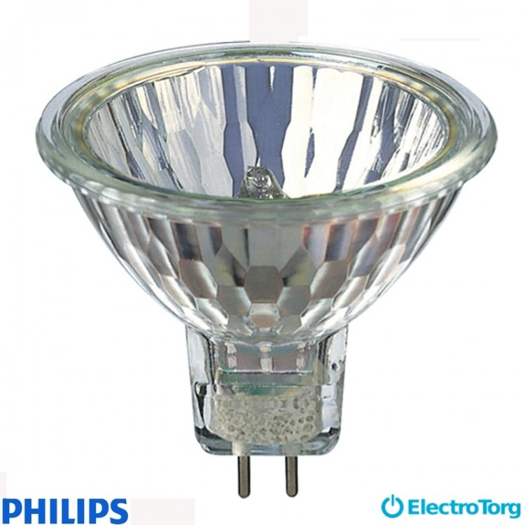 Лампа галогеновая Hal-Dich 2y 20W GU5.3 12V 36D 2BC/10 Philips