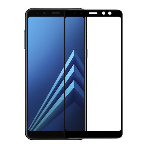 Samsung A530F Galaxy A8 (2018) Colorful Tempered Glass Black Защитное Стекло