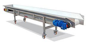 Ленточный конвейер шириной ленты 200 мм, длиной 1 м, 0,37 кВт 380 В