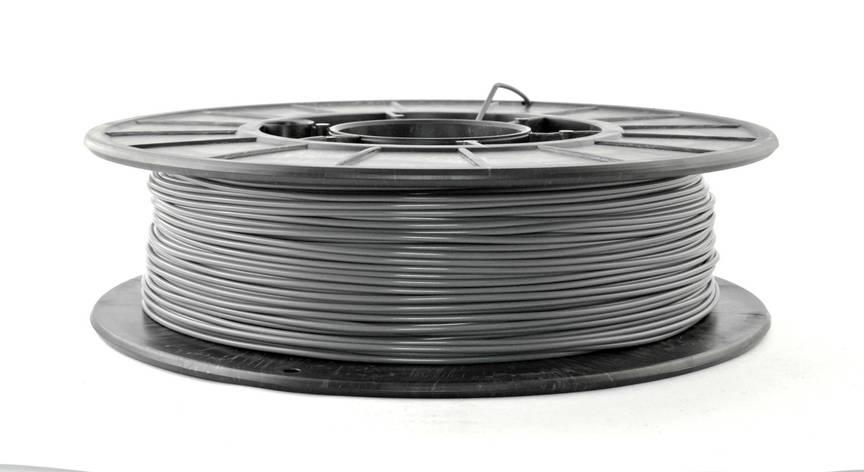 Нить PLA (ПЛА) пластик для 3D печати, Серый (1.75 мм/0.5 кг), фото 2