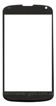 Корпусное стекло на  LG Google Nexus 4 E960 черное, фото 2