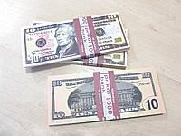 Деньги сувенир 10 долларов, пачка баксов