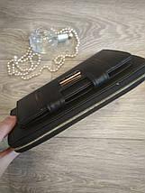 Женский кошелек-клатч черный, фото 3