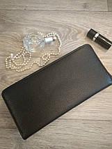 Женский кошелек-клатч черный, фото 2