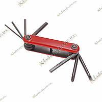 Мультитул для велосипеда 7 инструментов (красный), фото 1