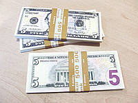 Деньги сувенир 5 долларов, пачка баксов
