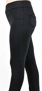 Лосины женские, черный трикотаж на меху, классика ( Батал ) р.50-58