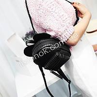 989468f3b988 Черный городской мини-рюкзак с ушками Микки-мауса (высота 16см) для детей