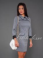 Платье с отложным воротником черный/белый, фото 1