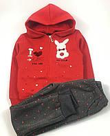 Теплый спортивный костюм для девочки Grace Зайка (98)