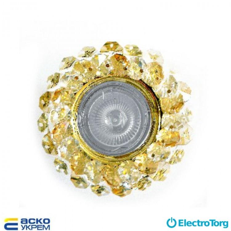 Светильник точечный (MR 16) S7083 GD/WH/CHAMP белый+шампань, Аско