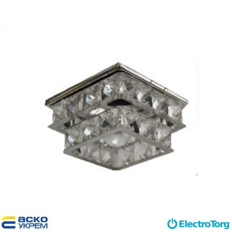 Светильник точечный (MR 16) S7307-2 CH+WH прозрачный (двухъярусный), Аско