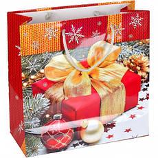 Пакет цветной чашка «Новый год» 16×16×7 см ПЦчМ, фото 3