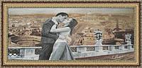 Картина гобеленовая Итальянский поцелуй 100х69см в багетной раме G320