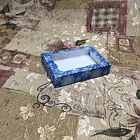 Коробка для пряников / 100х150х30 мм / печать-Снег.Син / окно-обычн / НГ, фото 1