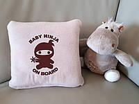 """Детский плед с вышивкой """"Baby ninja"""" , фото 1"""